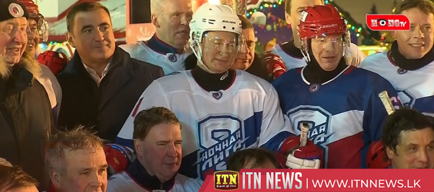Putin scores five times in ice hockey match on Red Square
