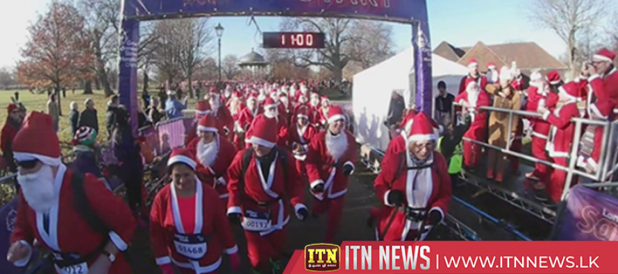 Hundreds of Santas race for a good cause in Mexico