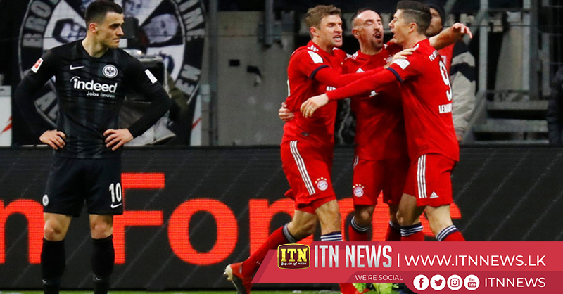 Bayern beat Eintracht with Ribery double, move into second spot