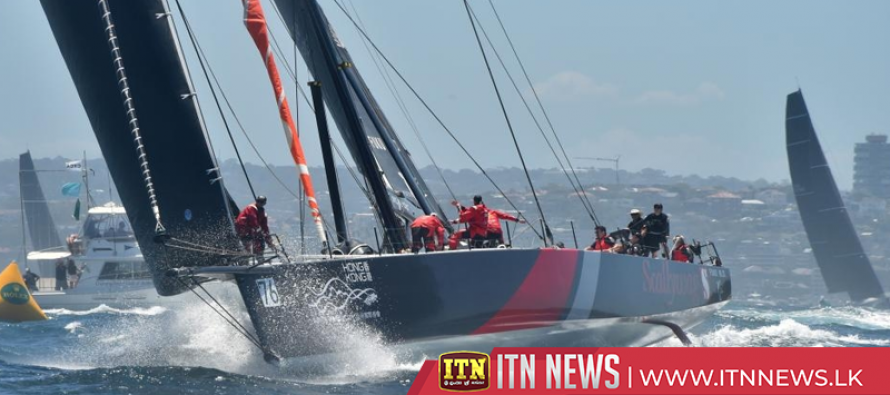 Super-maxi Scallywag out of Sydney-Hobart race