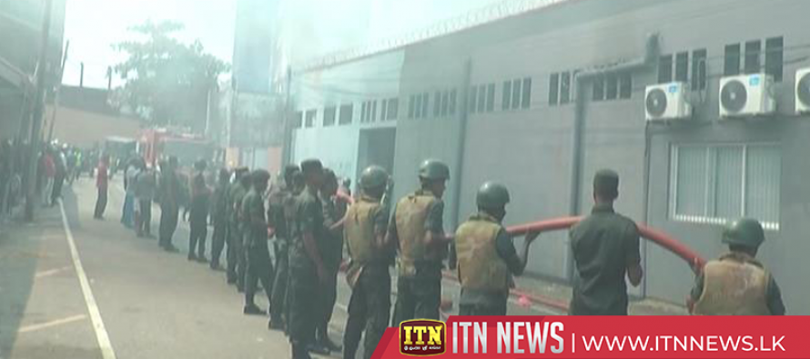 Fire destroys a factory on Vauxhall Street in Colombo