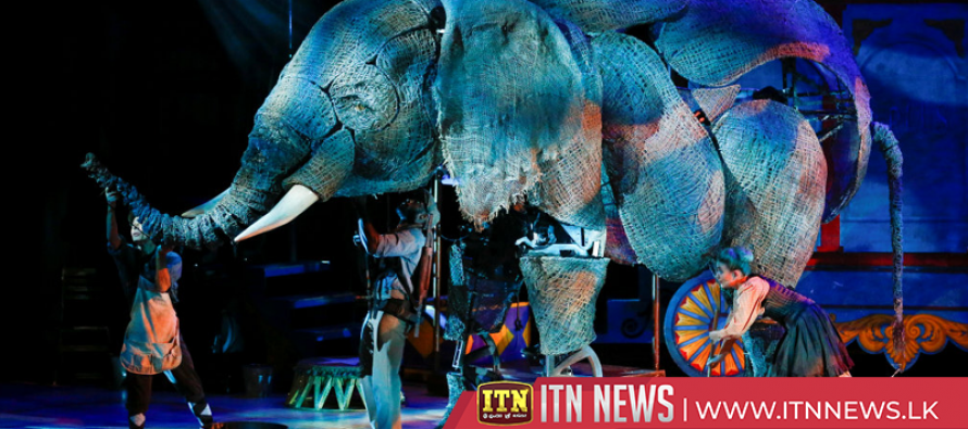 Life-sized puppet elephants join the Circus in London