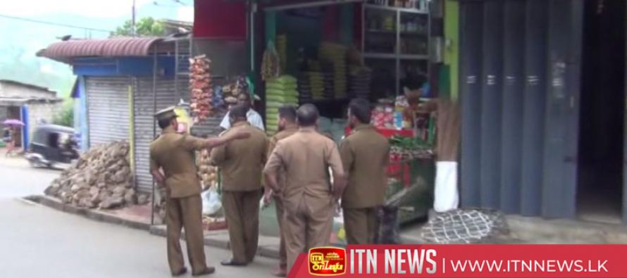 Raids in Sri Paada area by Public Health Inspectors