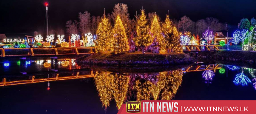 Four million lights transform Croatian estate into festive theme park