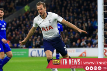 Kane's goal was his 14th in the Premier League this season
