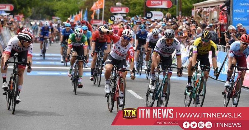 Philipsen wins dramatic stage five of the Tour Down Under after Ewan is disqualified