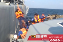 Navy assists to bring ill Malaysian sailor ashore for treatment