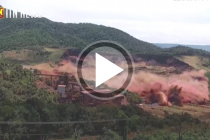 Brazil dam collapse: The moment the deadly dam gave way (CCTV footage)