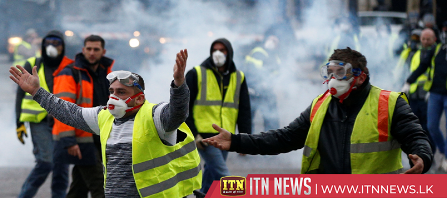 Protesters, police clash across France on 12th week of 'yellow vest' demonstrations