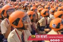 Helmeted children set new world record