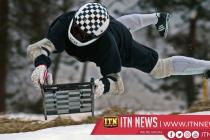 Daredevils take to Cresta Run in world's oldest toboggan race