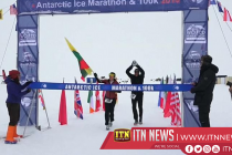 Runners brave ice and snow as world marathon race begins in the Antarctic