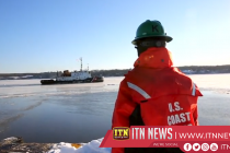 Breaking the ice on the Hudson River as frigid temperatures blanket the U.S. Northeast