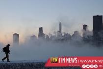 Steam fog moves over Minnesota's Lake Superior