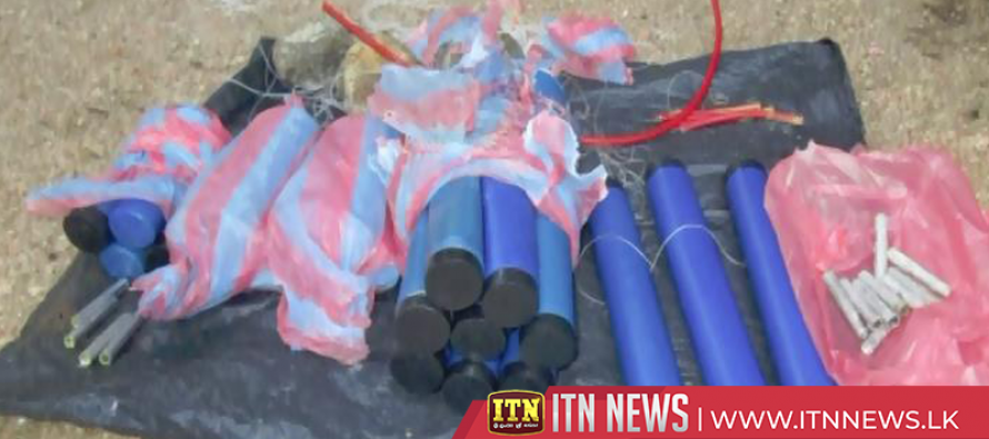 Navy seizes explosives and a pressure bomb from Trincomalee