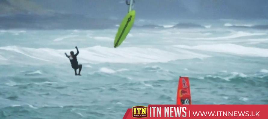 Daring windsurfers battle stormy conditions in Ireland