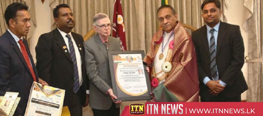 Speaker Karu Jayasuriya awarded 'Pride of Asia'