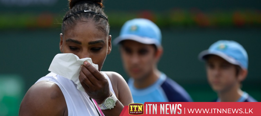 Serena retires from Indian Wells match with illness