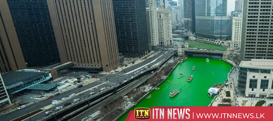 Watch the Chicago River turn green