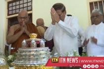 President at Bambalapitiya Vajiraramaya Temple