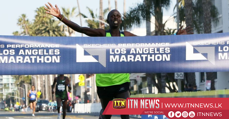 Barno wins L.A. Marathon in last minute surge, Merachi sets course record