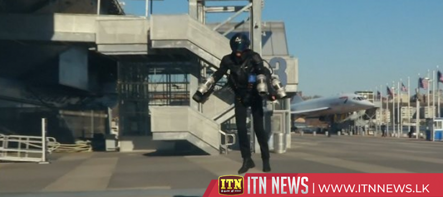 3-D printed jet suit takes off at the Intrepid in New York