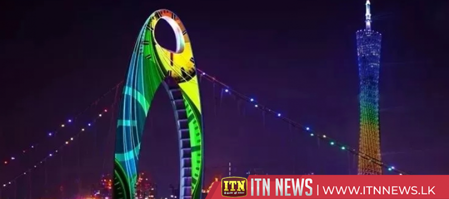 Belt and Road-themed light show illuminates Beijing Olympic Park