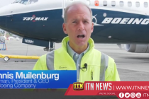 Boeing CEO takes test flight aboard upgraded 727 Max plane