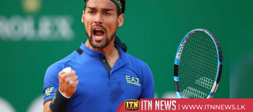 Fognini upsets Zverev to reach Monte Carlo quarter-finals