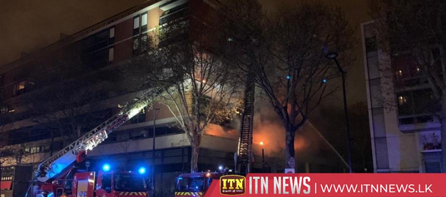 Blaze engulfs Paris building, no casualties reported