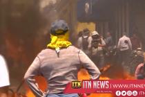 Rocks fly, blockades burn in Honduras' anti-government protest