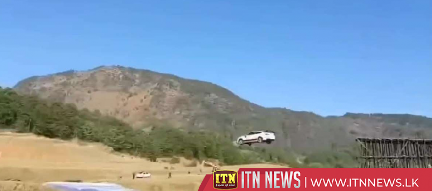 Chinese man breaks world record by jumping his car across Yangtze River