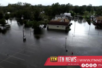 Drone video shows flood-ravaged Quebec town