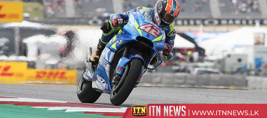 Rins takes first MotoGP win as Marquez crashes out