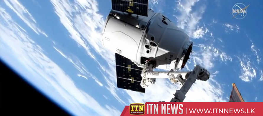SpaceX Dragon cargo craft arrives at International Space Station