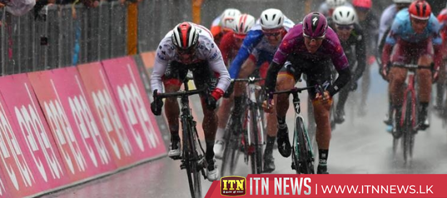 Ackermann sprints to second Giro stage win in heavy rain
