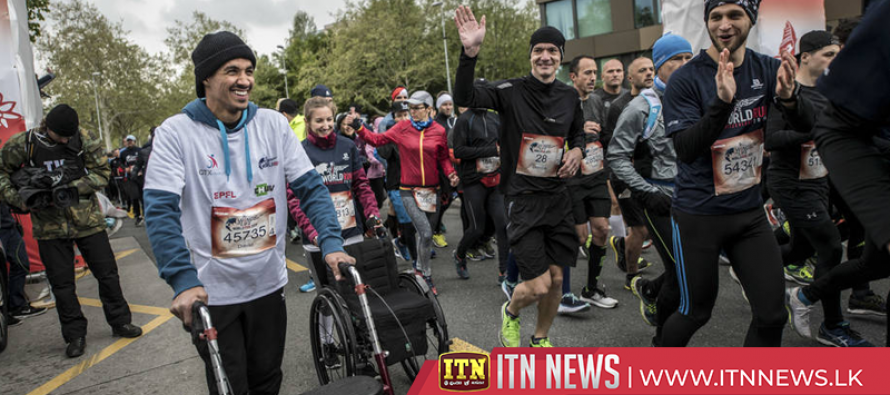 Runners and wheelchair participants race in 72 countries