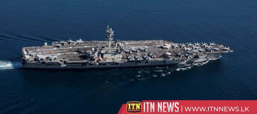 Video shows U.S. aircraft carrier in the Red Sea and Arabian Sea