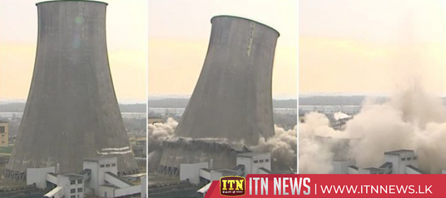 Polish cooling tower demolished in seconds with explosives