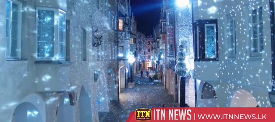 This town is lit! Magical lights brighten up Italian Alps