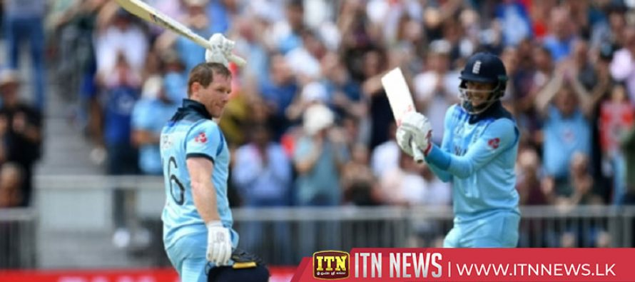 Eoin Morgan hits record 17 sixes in World Cup win