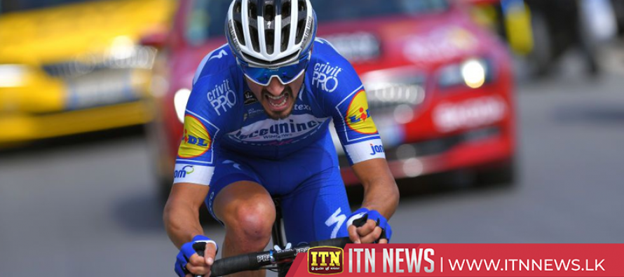 Alaphilippe moves into overall lead in Tour de France