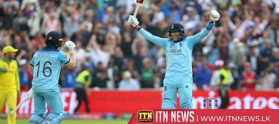 England reach Cricket World Cup final with thrashing of Australia