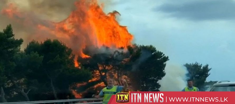 Flames visible from motorway in France, as heatwave grips Europe