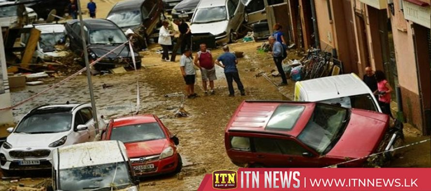 Floods sweep through northern Spanish towns killing a driver