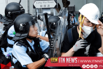 Protesters scuffle ahead of Hong Kong handover anniversary ceremony