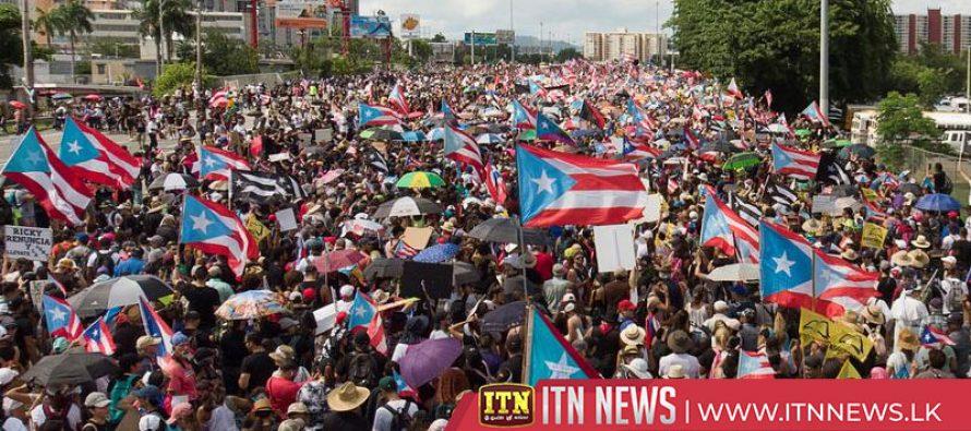 Massive San Juan protest demands Puerto Rico governor resign
