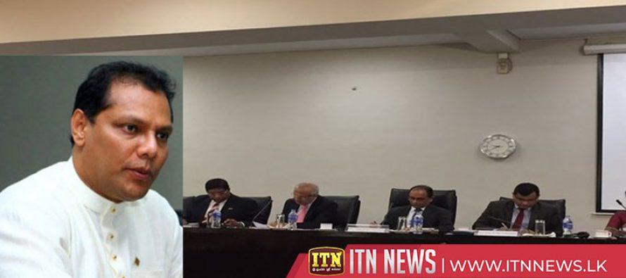 Dayasiri Jayasekera testifies before the parliamentary select committee