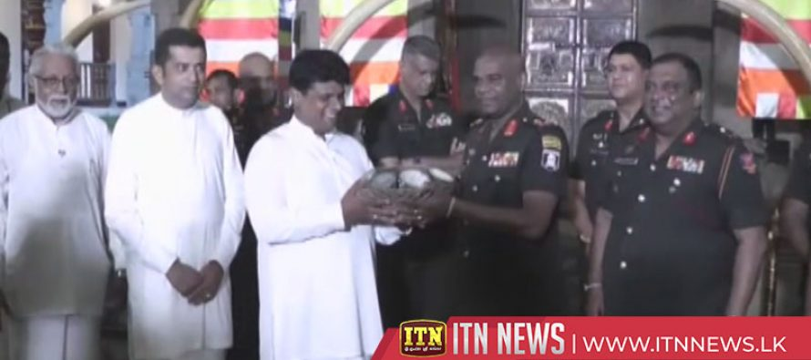 Army offers desiccated coconut for the Kandy Esala Festival