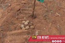 வவுனியா ஓமந்தை விளக்குவைத்தகுளம் பகுதியில் மிதிவெடிகள் மீட்பு